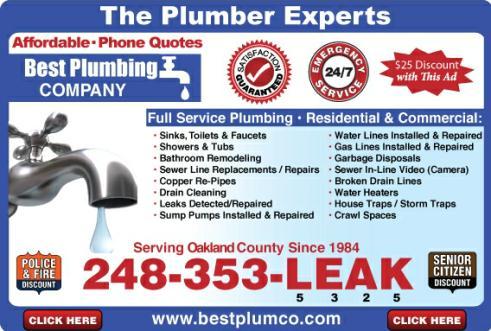 Best Plumbing Local Plumber Farmington Mi